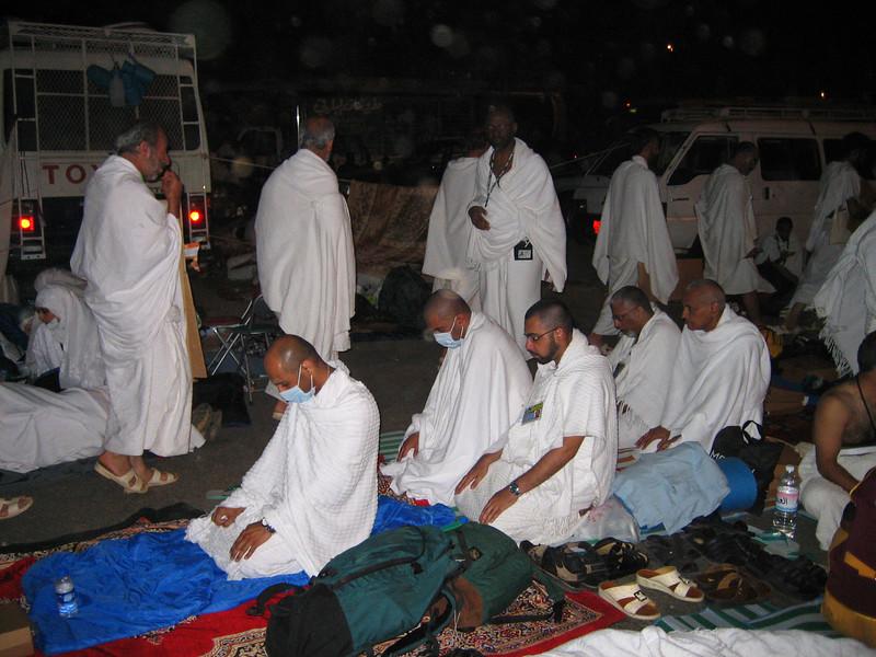 Nadeerm leading a jamaat.