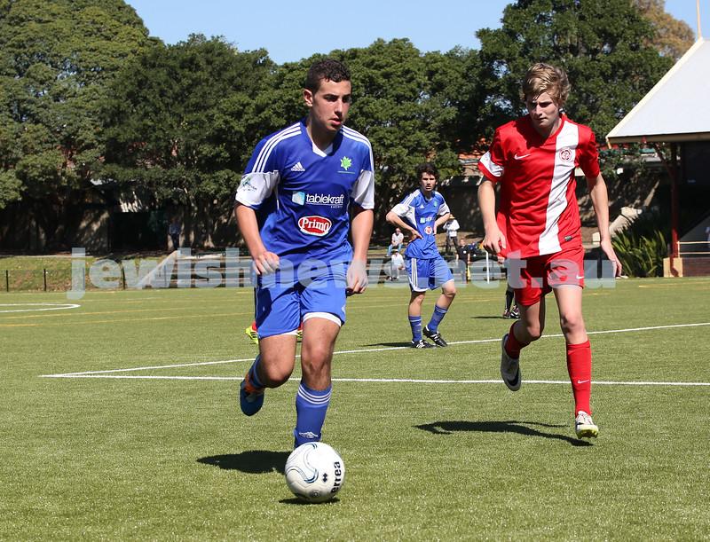 Under 16 Soccer Hakoah Sydney City East FC vs Nepean FC. Hakoah won 3-2.