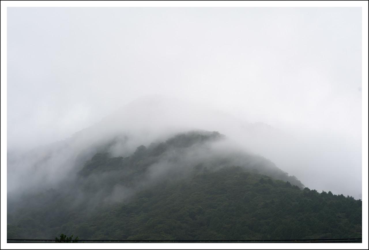 Sounzan mountain, taken from our front window.