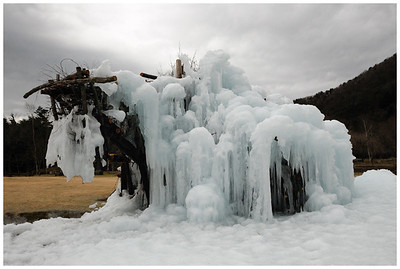 A winter ice festival in the 5 lake district.