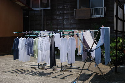Laundry on a hot, hummid summer day.