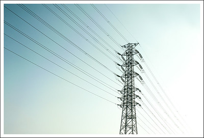 There are lots and lots of these power pylons along the Atsugi - Odawara highway.