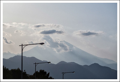 Tomei Fuji in the evening