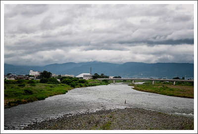 The Tama river early sunday morning on the way back to Tokyo.