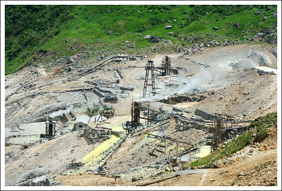 Part of the Owakudani sulfur mines.