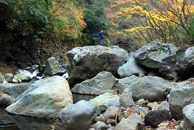 Rocks in the river that runs below Miya no Shita.  It is about 5 minutes by car from our place.
