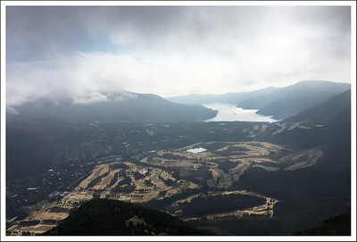 Lake Ashi and the Hakone golf course seen from the peak of the first mountain.