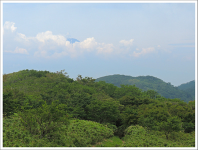 July is not a good time to see the mountain.  It is usually covered with clouds or high humidity haze at this time of year.