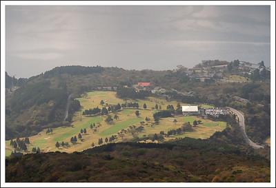 The golf course at Hakone En in November.