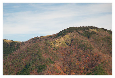 Daimonji mountain in its fall splendor.