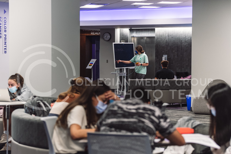Kansas State University, Hale Library, has all five floors opened to the public including the Great room, various study locations, and the new Sunderland Foundation Innovation Lab. (Dylan Connell   Collegian Media Group)