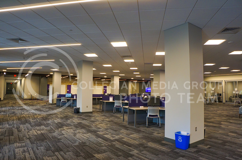 An empty second level study area in Hale Library. 15 September 2020. Haley Jacques || Collegian Media Group