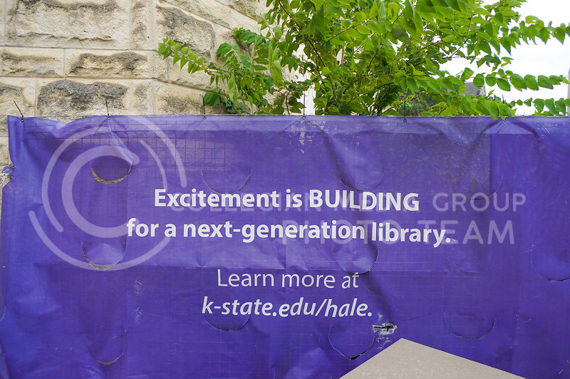 """""""Excitement is BUILDING for a next-generation library."""" Continuing construction is going on outside of Hale Library. 15 September 2020. Haley Jacques 