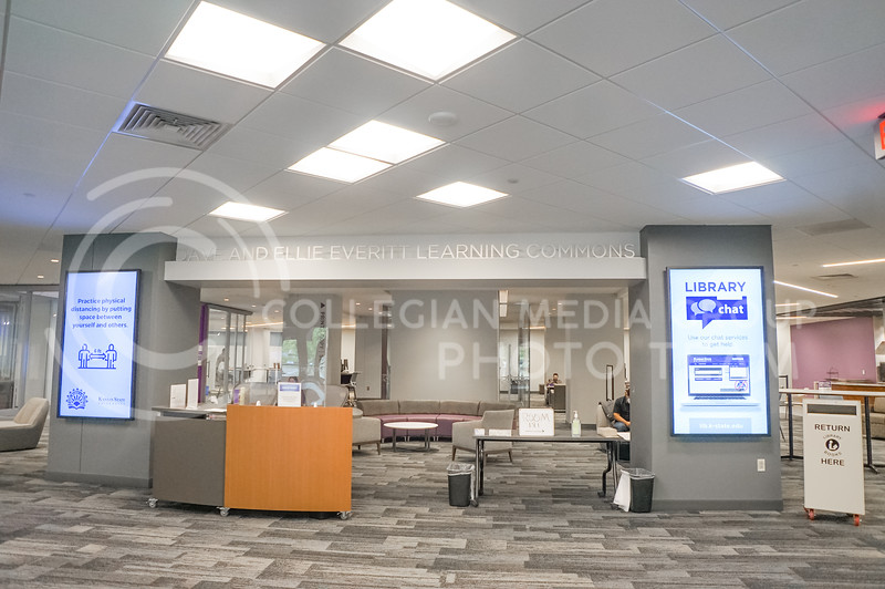 Due to Covid-19, Hale library usually is close to empty on most days. 15 September 2020. Haley Jacques || Collegian Media Group
