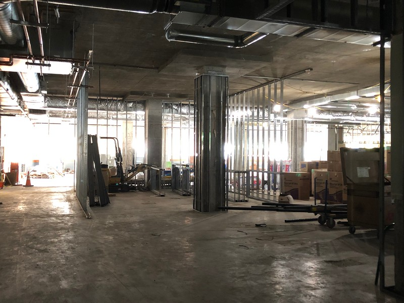 The first floor of Hale Library is under construction on May 17, 2019 (Dene Dryden | Collegian Media Group)