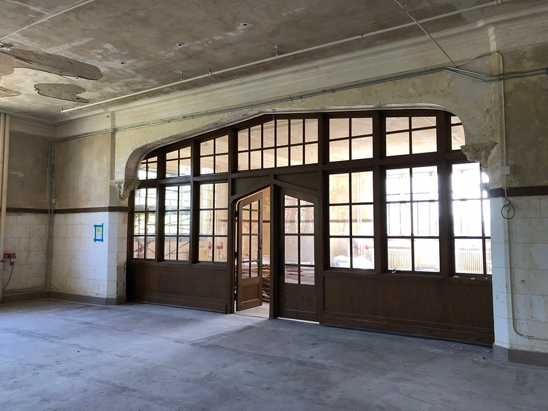 An ornate entryway within room 212 in Hale Library on May 17, 2019. (Dene Dryden | Collegian Media Group)