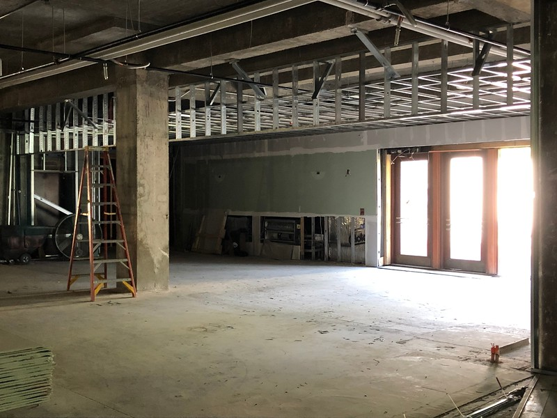 The new first floor entryway in Hale Library on May 17, 2019. (Dene Dryden | Collegian Media Group)