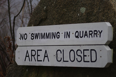 No Swimming, this means you!