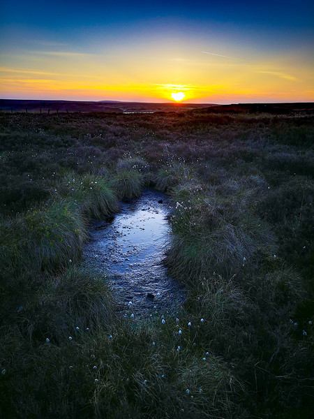 Sunset at Ovenden Moor