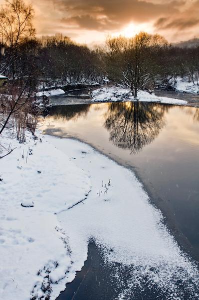 River Calder at winter