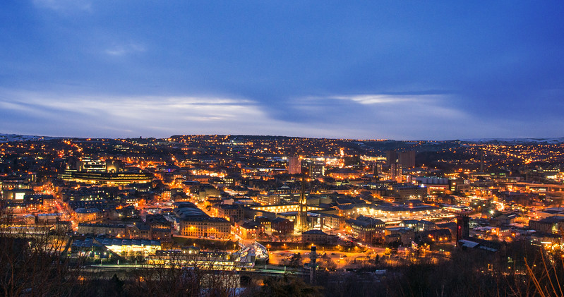 Halifax  panorama at twilight.