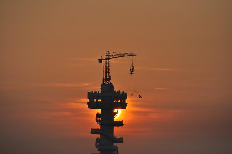 Fotograaf: Danielle Scheerder. Een zonsondergang in Scheveningen.