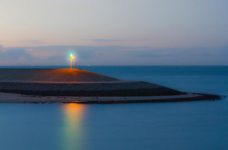 Fotograaf: Marlies Dekker. Pier bij avondlicht