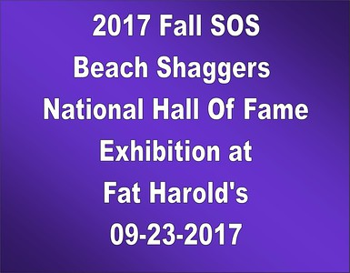 2017 Fall SOS BSNHOF Exhibition at Fat Harold's 09-23-17