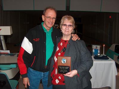 Accepting on Glenn's behalf, his sister, Pat Whitener