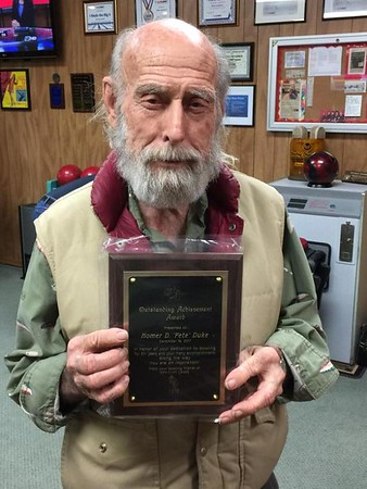 Homer D. 'Pete' Duke - Outstanding Achievement Award for 50+ Years of League Bowling
