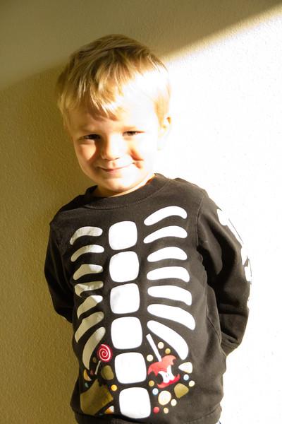 Zachary and his halloween shirt.