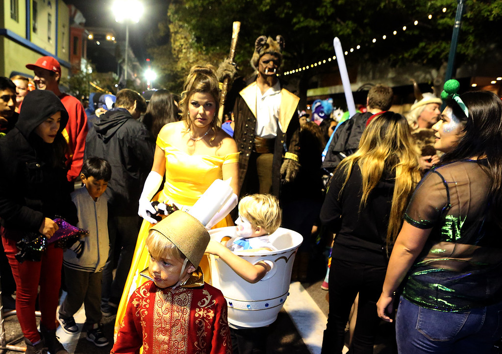 . Halloween night on Pacific Avenue in Santa Cruz, California (Shmuel Thaler -- Santa Cruz Sentinel)
