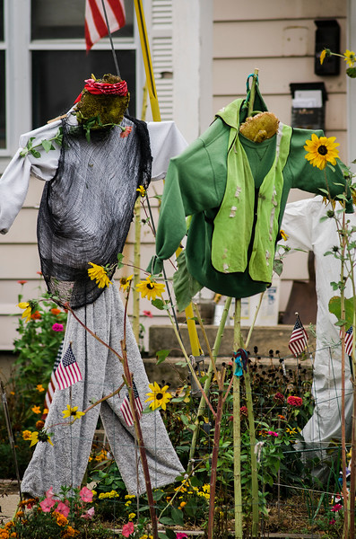Halloween displays on Summer Street in Fitchburg. SENTINEL & ENTERPRISE / Ashley Green