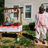 A home on West Street in Leominster is decorated for Halloween. SENTINEL & ENTERPRISE / Ashley Green
