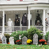Halloween displays on Washington St. in Leominster. SENTINEL & ENTERPRISE / Ashley Green