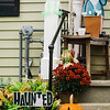 Halloween displays on Cane Street in Fitchburg. SENTINEL & ENTERPRISE / Ashley Green