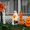Halloween displays on Tolman Ave. in Leominster. SENTINEL & ENTERPRISE / Ashley Green