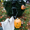 Halloween displays on Claflin St. in Leominster. SENTINEL & ENTERPRISE / Ashley Green