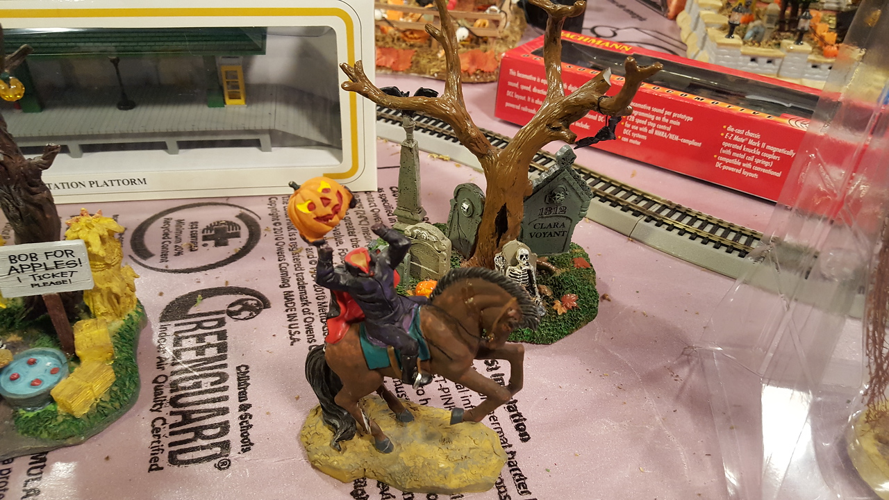 Standalone items we had at home from previous Halloweens