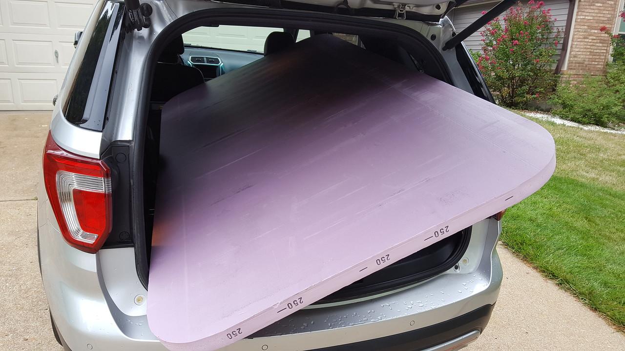 Foam board is too big for my vehicle