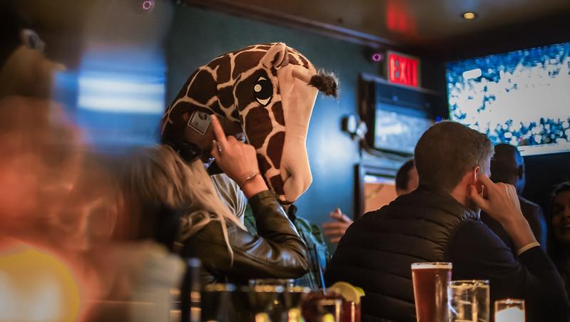 A Giraffe Walks Into A Bar...