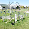 A graveyard of Halloween decorations at the Matt Hardesty residence south of Funkhouser on North 1000th Road. Charles Mills photo