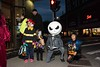 Jack Skellington poses with trick-or-treaters on the corner of Main and Flat.  KELLY FLETCHER, REFORMER CORRESPONDENT