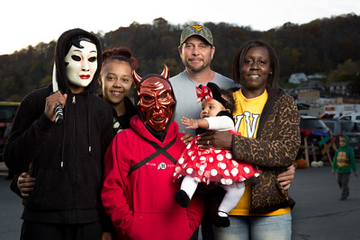 Halloween 2016 in Richwood, WV.  WVU Reed College of Media Photo Corps visits areas of West Virginia affected by the floods of June 2016. We make photos of residents and give away prints. These are some of our portraits. Photos by Prof. Nancy Andrews with the assistance of WVU grad students Justin Hayhurst. www.wvphotocorps.com Copyright 2016 Nancy Andrews