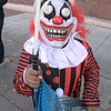 Main Street in Fitchburg was closed down on Saturday for the annual Halloween on Main Street event. This scary clown was Damien Florian, 8, of Fitchbrurg. SENTINEL & ENTERPRISE/JOHN LOVE