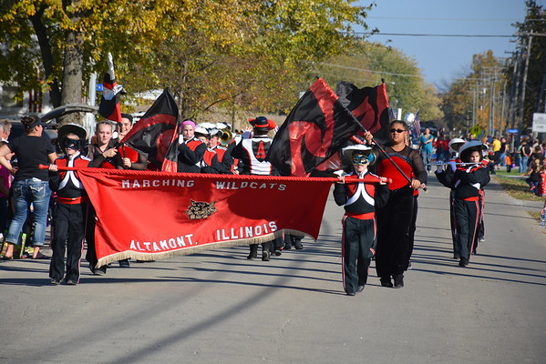 The Marching Wildcats of Altamont Grade School march on Division Street during the Altamont Halloween Parade Oct. 26.