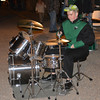 Stewardson-Strasburg band member Braydon Stremming pounds out a drum solo during the Strasburg Halloween celebration Oct. 26.