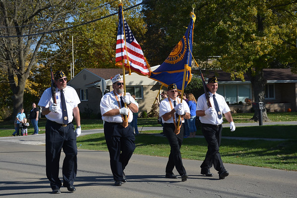 Veterans provide a color guard during the Altamont Halloween Parade Oct. 26.