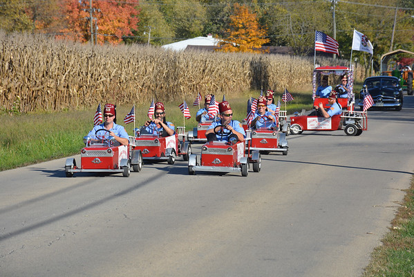 Members of the Ainad Center Original Fire Patrol ride in the Altamont Halloween Parade on Oct. 26.