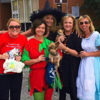 At the Belleville Area Humane Society's Howl'oween Pet Parade were (l to r): Kristina Boron, Shelly Korves, Michelle Meehan Schrader, Mickie Mahoney and Tricia Tialdo.